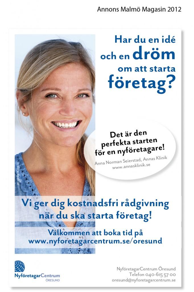 Annons NyföretagarCentrum Öresund - Malmö Magasin 2012