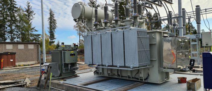 Ställverk transformator stationen
