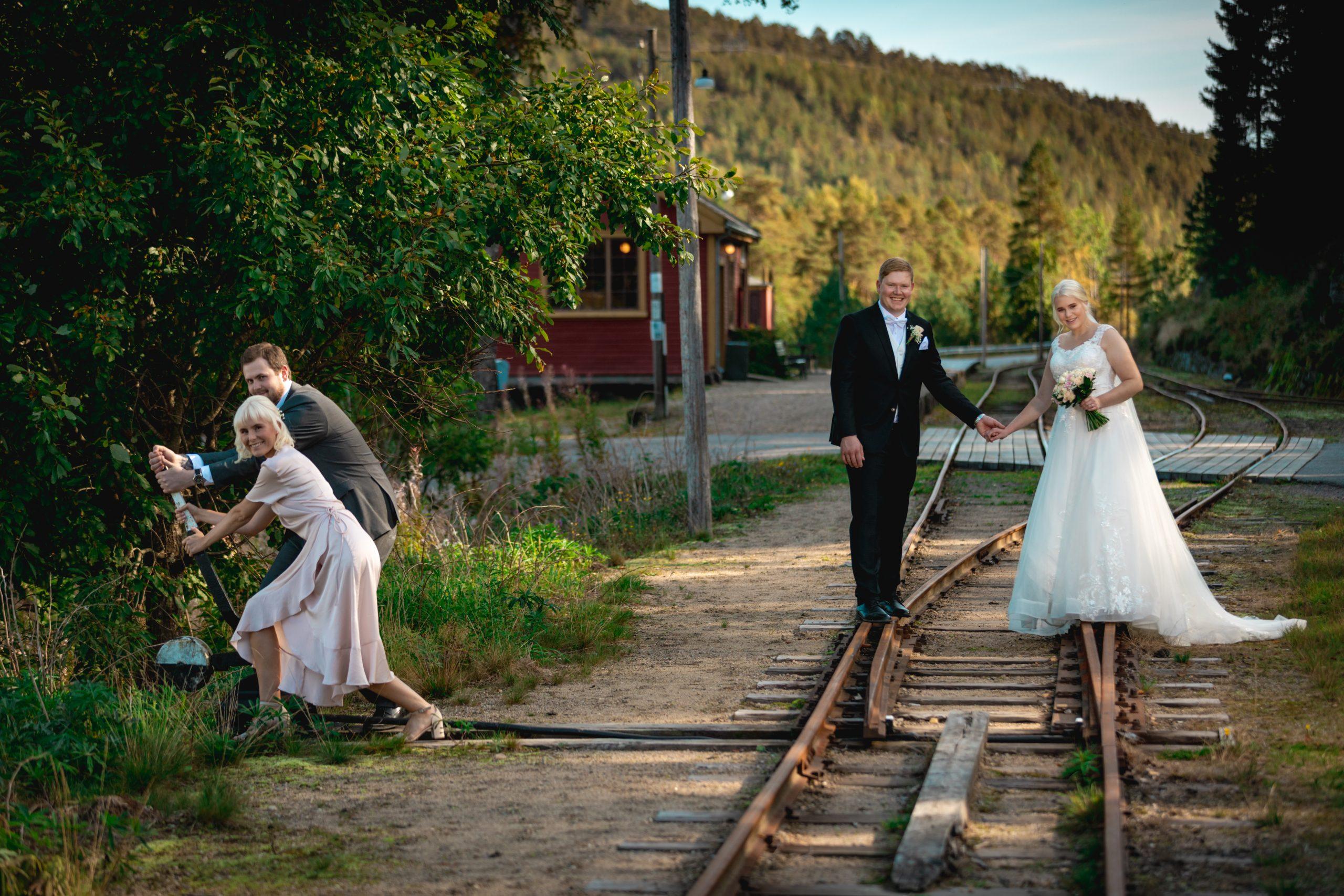 Bryllupsfotografering med Mina & Even