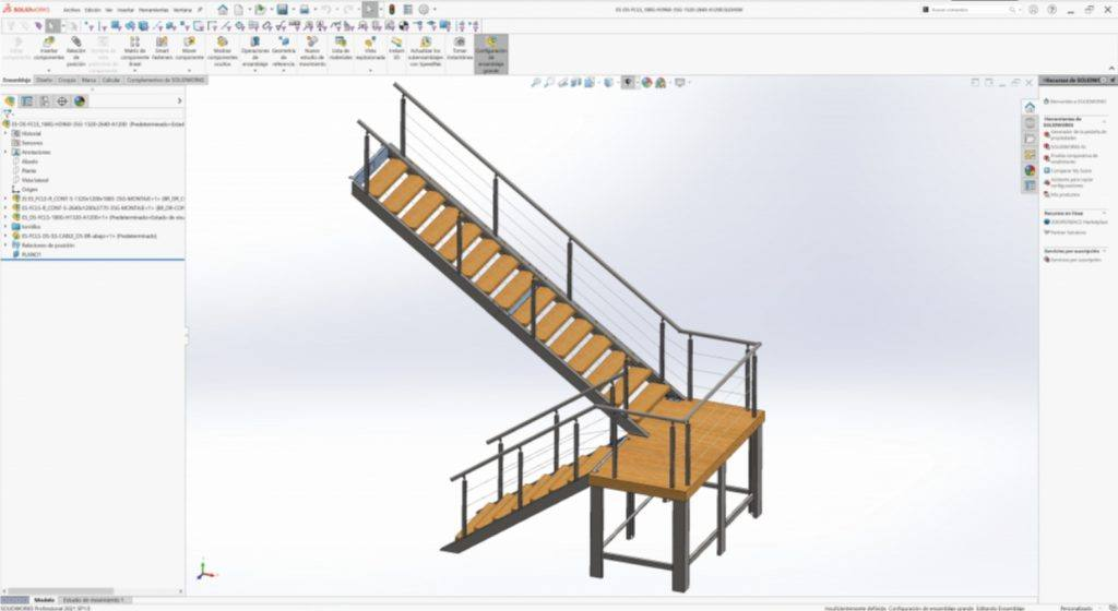 Captura de pantalla de programa SolidWorks