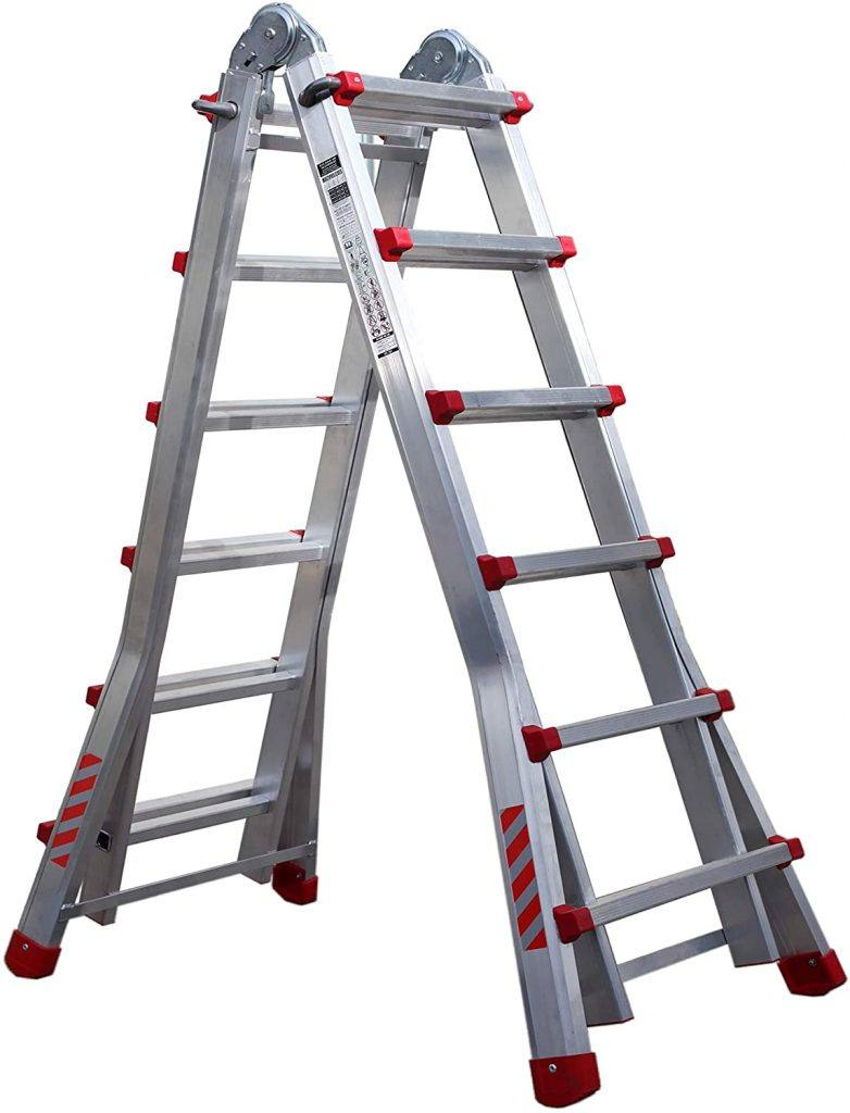 Escalera profesional de aluminio Nawa plegable y telescópica