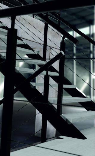 Escalera kit negra interior