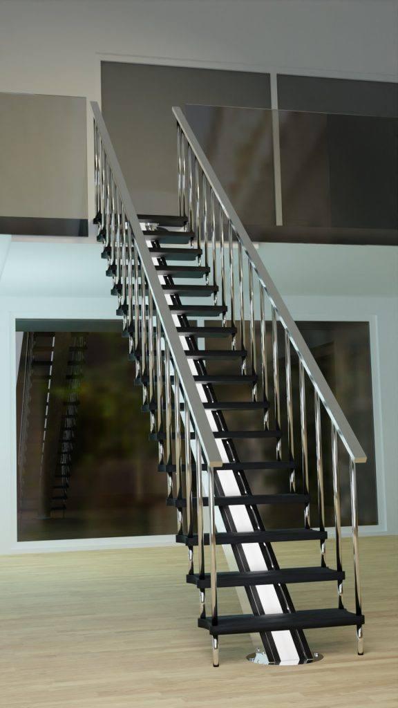 Escalera inox recta kit