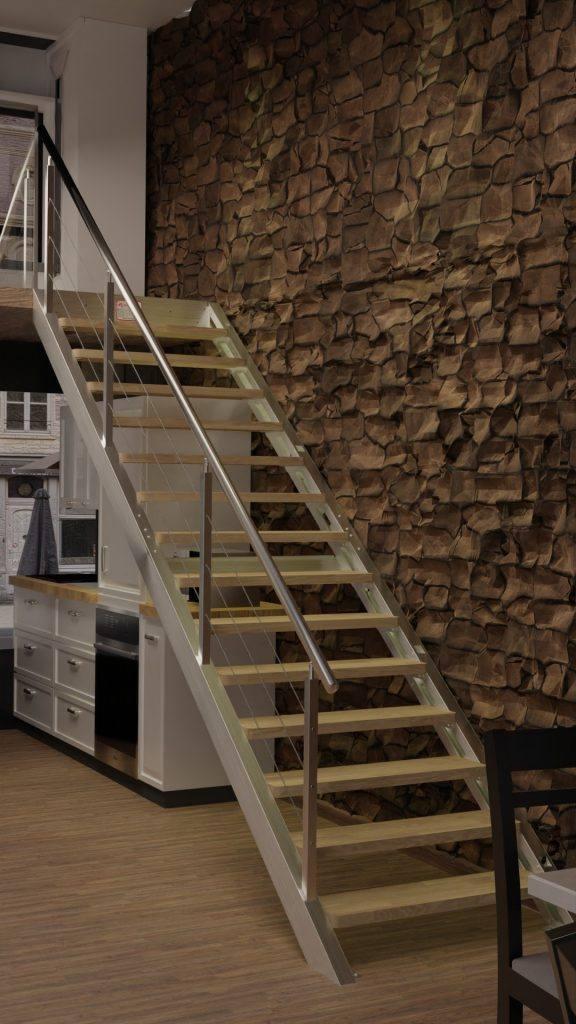 escalera de pared inox