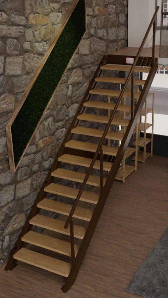 Escalera Recta Pared BR Derecha