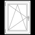 Type raam Open Met Draai Kip