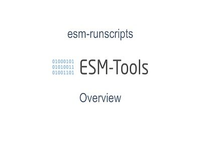 runscripts_overview_user_workshop_may_2019