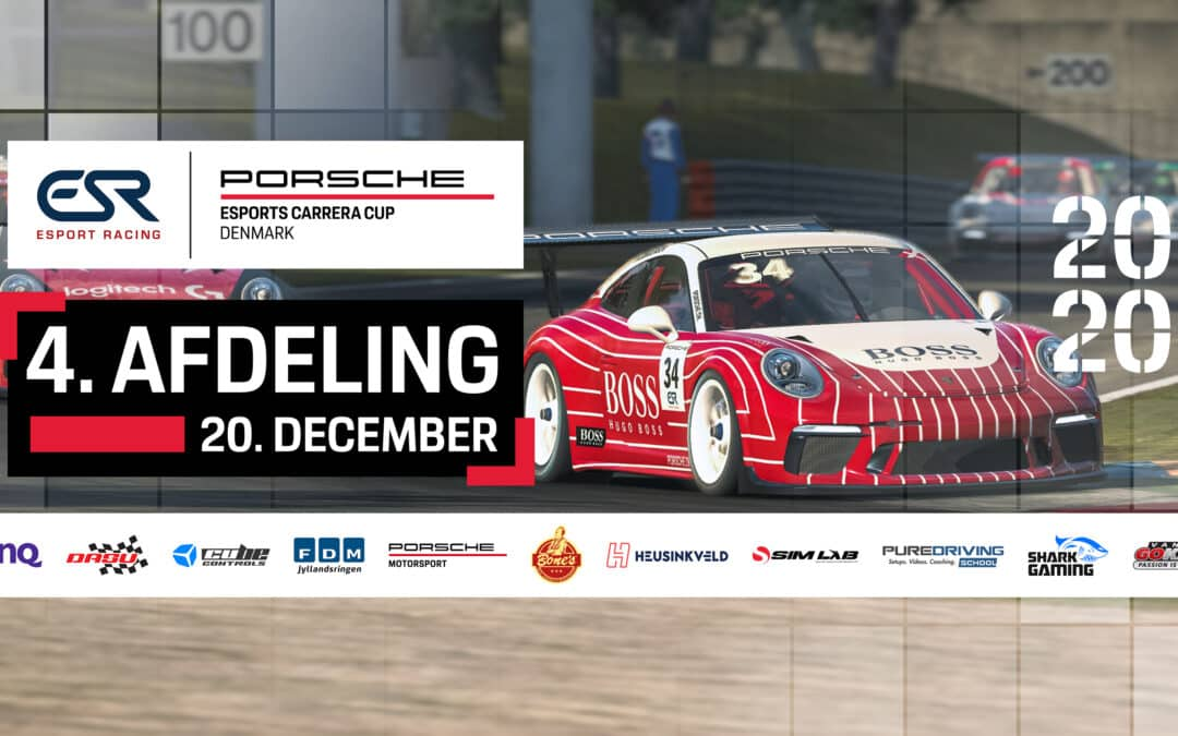 Watch the 4th Round of Porsche Esports Carrera Cup Denmark