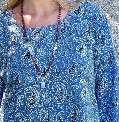 Tunika i indigo blått