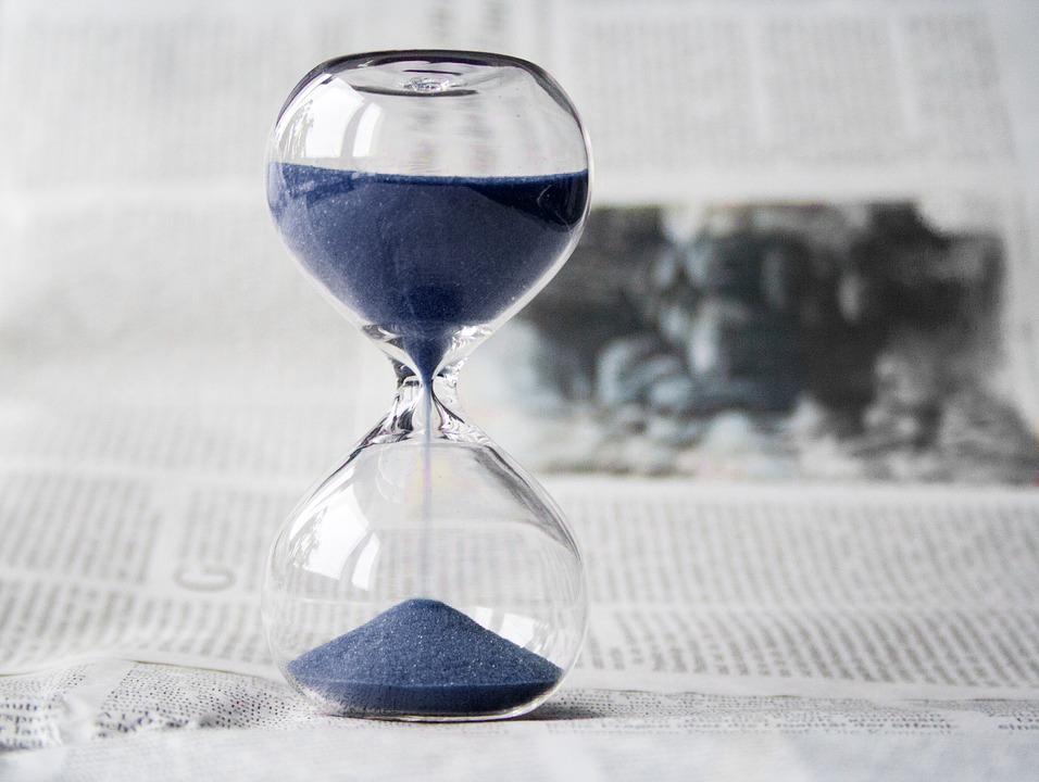 timesglass med blåsand