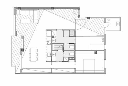 EstudioTInto - Diseño proyecto arquitectura que emocionan -Reforma integral de un piso cerca del Turó Park Barcelona