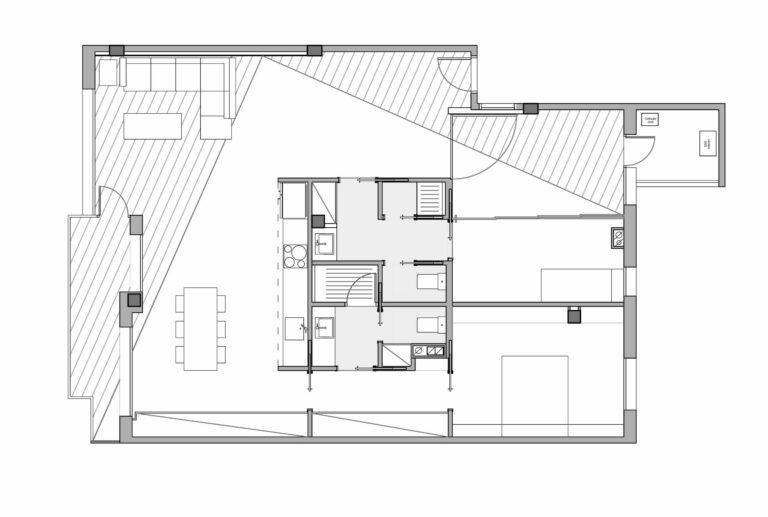 EstudioTinto-Diseño Proyectos de Arquitectura que emocionan - plano reforma integral piso en el Turó Park de Barcelona
