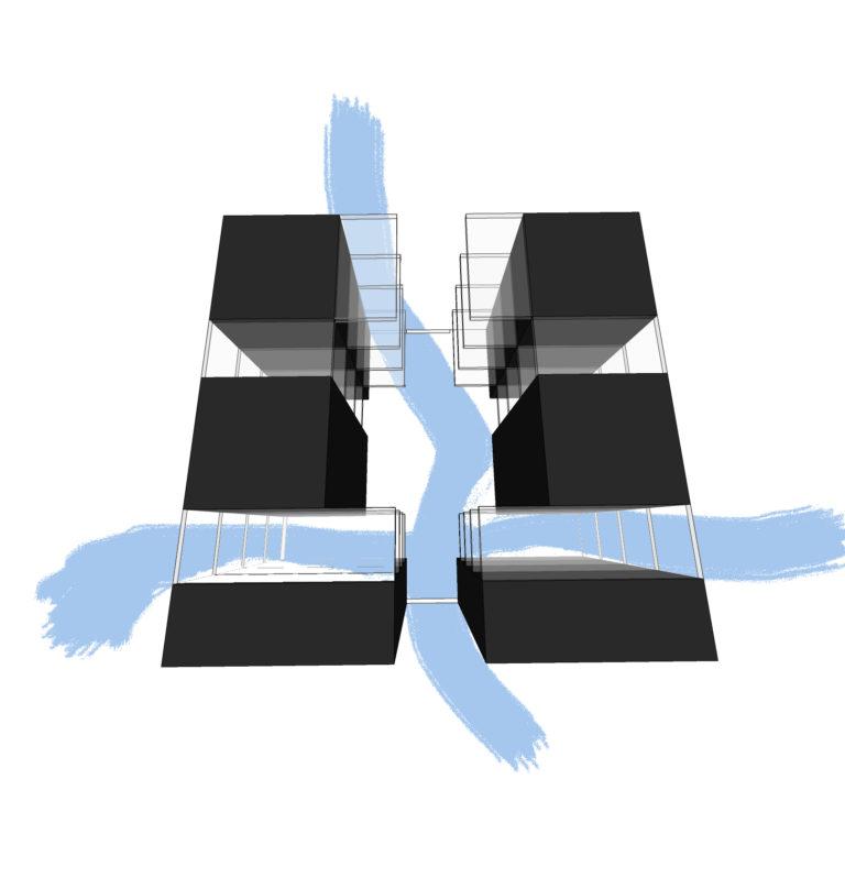 EstudioTInto - Diseño proyecto arquitectura que emocionan - boceto croquis idea proyecto promocion inmobiliaria Igualada