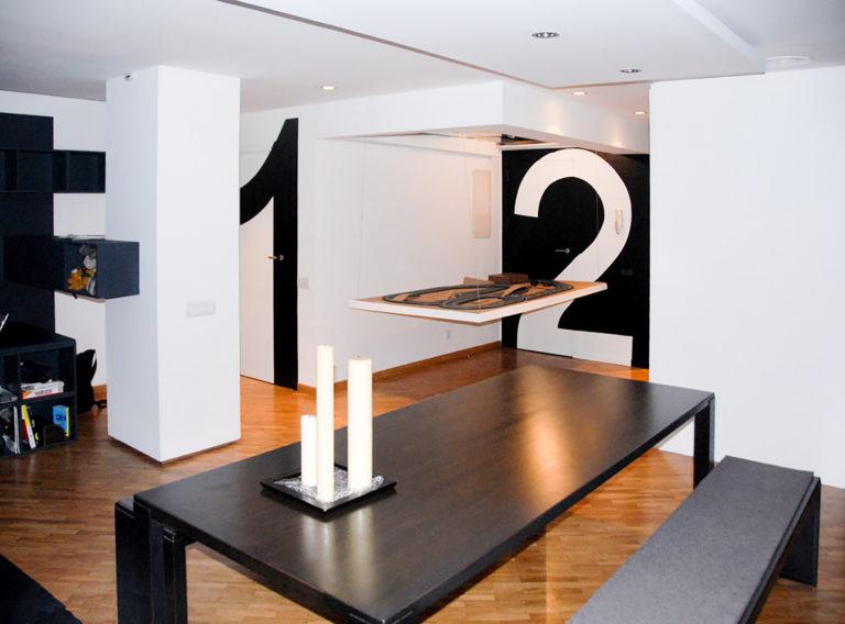 EstudioTInto - Diseño proyectos arquitectura - sala de juegos comedor reforma integral despacho en piso vivienda san Gervasio Barcelona