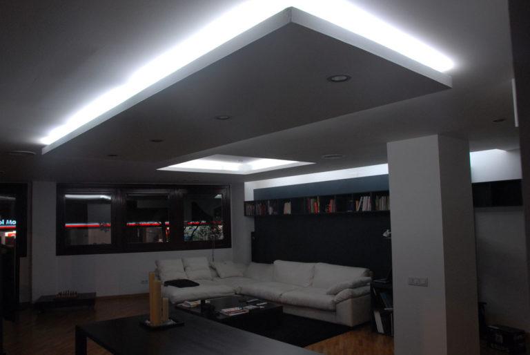 EstudioTInto - Diseño proyectos arquitectura - salon reforma integral despacho en piso vivienda san Gervasio Barcelona