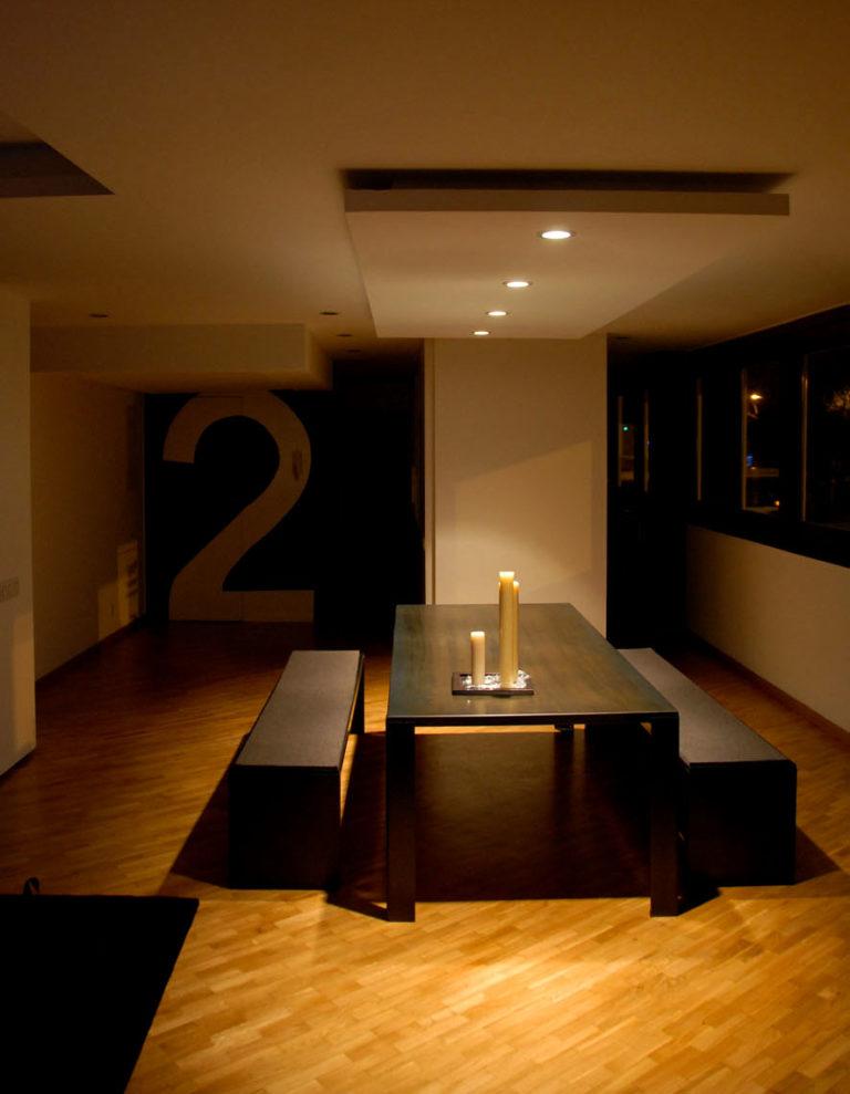 EstudioTInto - Diseño proyectos arquitectura - comedor reforma integral despacho en piso vivienda san Gervasio Barcelona