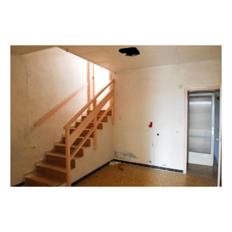 Proyecto reforma integral casa EstudioTinto estado inicial primer piso estudio