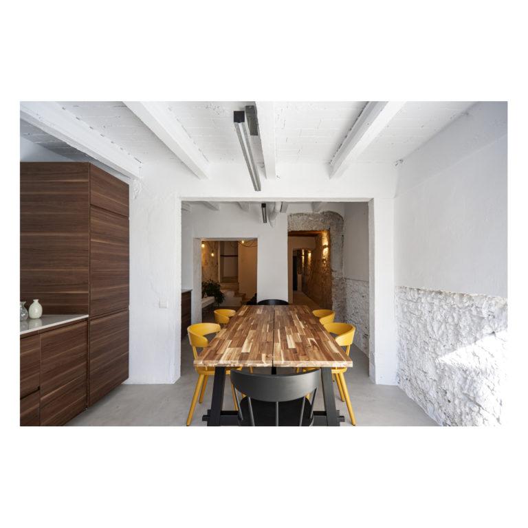 Proyecto reforma integral casa EstudioTInto - Diseño proyectos arquitectura - comedor reforma integral casa centenaria Bañolas Gerona