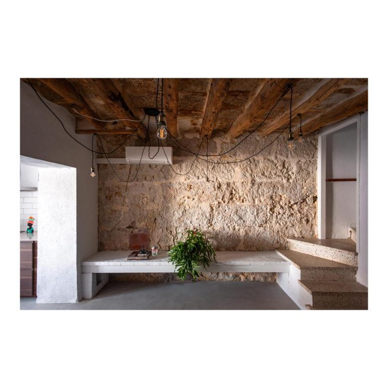 Proyecto reforma integral casa EstudioTInto - Diseño proyectos arquitectura - salón reforma integral casa entre medianeras Bañolas Gerona
