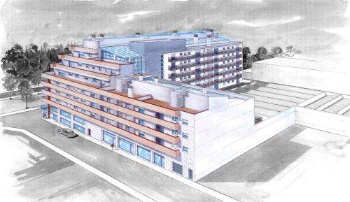EstudioTInto - Diseño gestión inversión inmobiliaria - Vista de pájaro de promoción inmobiliaria Valls Tarragona
