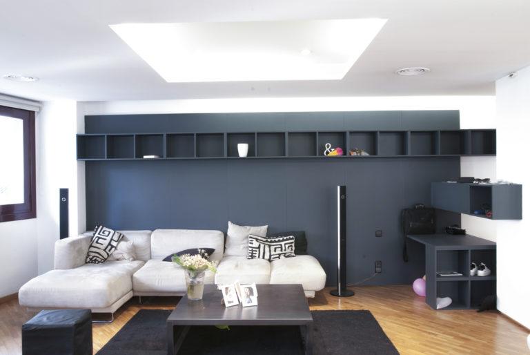 EstudioTInto - Diseño proyectos arquitectura - salón reforma integral despacho en piso vivienda san Gervasio Barcelona