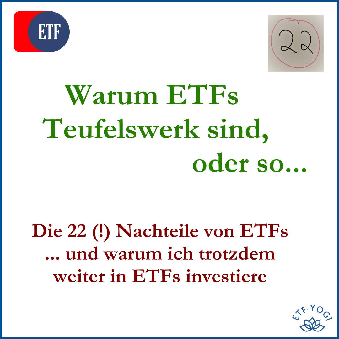 22 Nachteile von ETFs bzw. Risiken von ETFs. Ist das zuviel für Anleger?