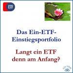 Das Ein-ETF-Einstiegsportfolio