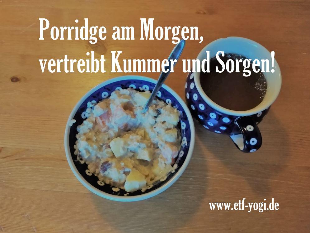 Hafer-Porridge, ein gesundes und günstiges Frühstück für alle. Das Rezept ist einfach.