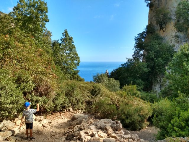 Cala Goloritze - Der Abstieg zum Strand.