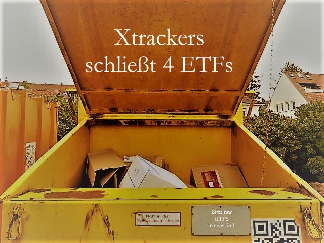 DWS schließt 4 Xtrackers-ETF