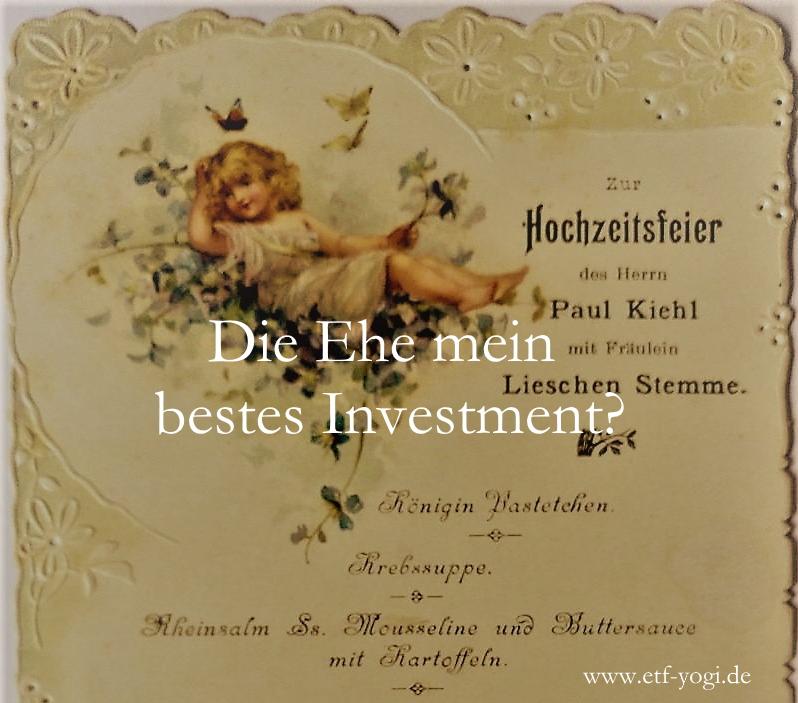 Ehe und Geldanlage – Die Ehe mein bestes Investment?