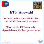 ETF-Auswahl und wie funktionieren ETFs – F&A # 3