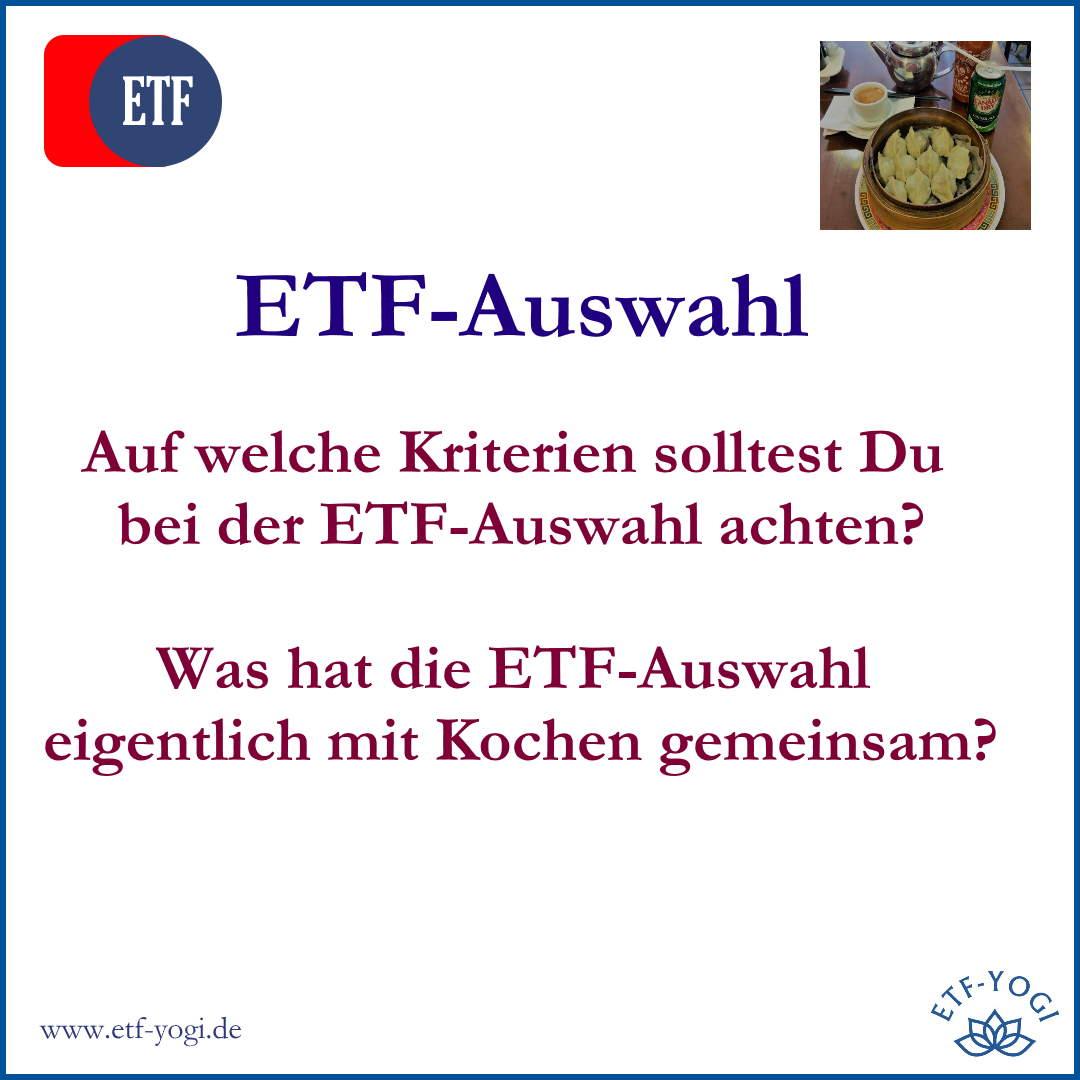 ETF-Auswahl, wie funktionieren ETFs und was ist die TER?
