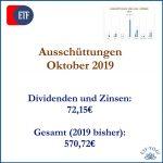 Ausschüttungen Oktober 2019 (und März-September)