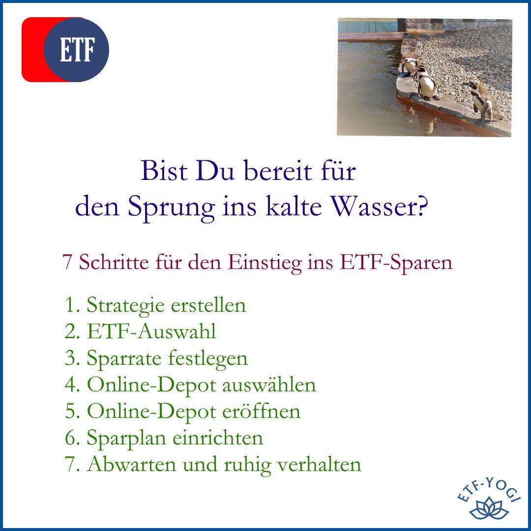 Einstieg ins ETF-Sparen in 7 Schritten. Von der Depot-Eröffnung bis zur Portfolio-Strategie für Deine Sparrate.