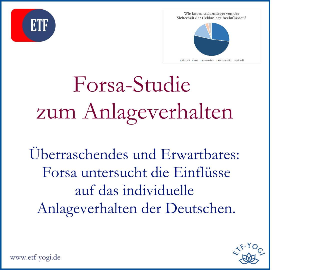 Studie: Anlageverhalten der Deutschen – Sicherheit wichtig