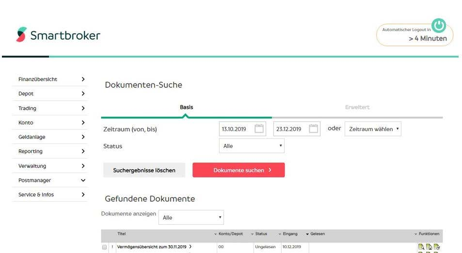 Screenshot 3: Smartbroker, ein neuer Discount Broker der Wall Street Capital AG mit Beziehung zu Fondsdisount