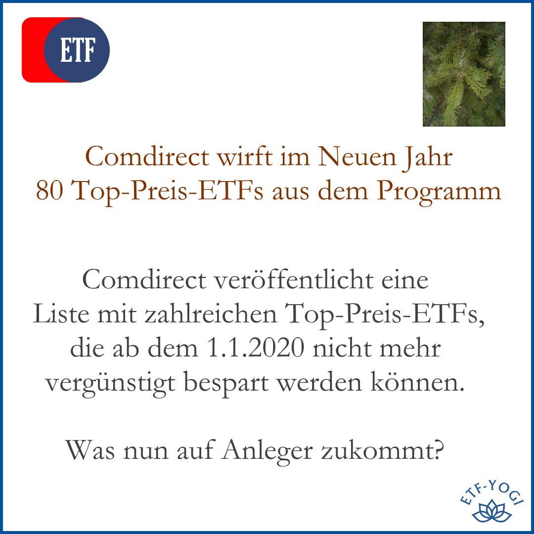 Comdirect wirft 80 Top-Preis-ETFs raus. Aktions-ETFs.