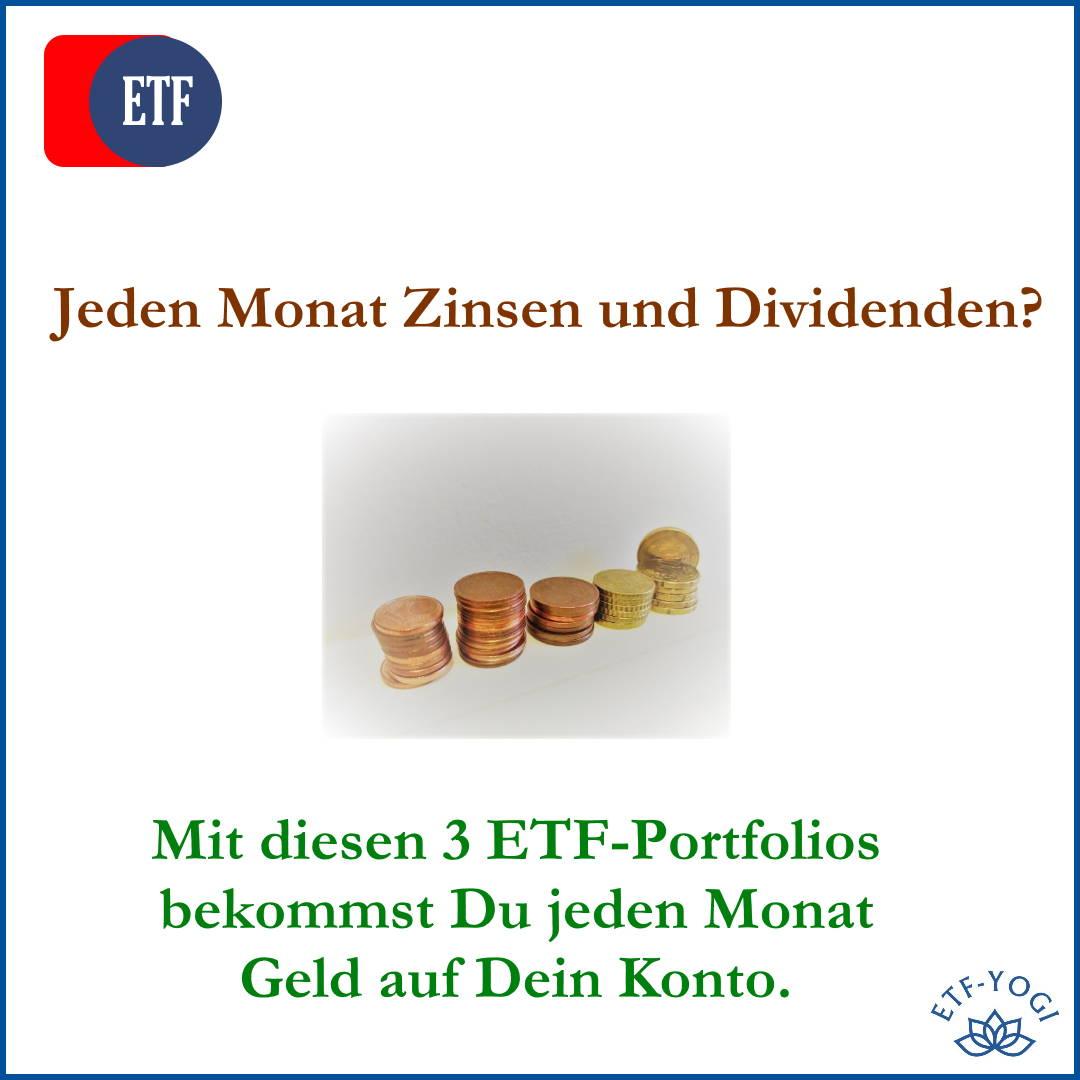 Jeden Monat Zinsen und Dividenden. 3 monatlich ausschüttende ETFs werden vorgestellt.