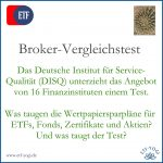 DISQ-Test: Wertpapier-Sparpläne von 16 Finanzinstituten