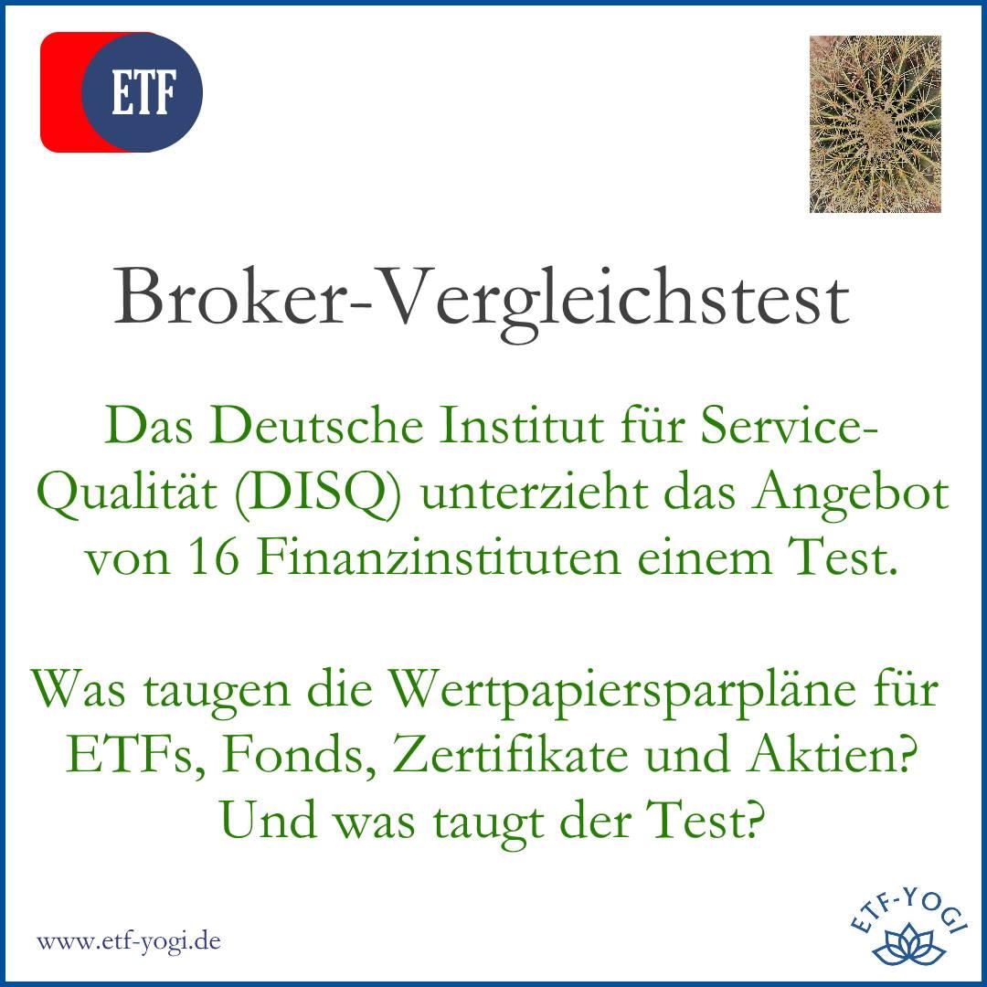 DISQ-Test: Wertpapier-Sparpläne von 16 Finanzinstituten 1