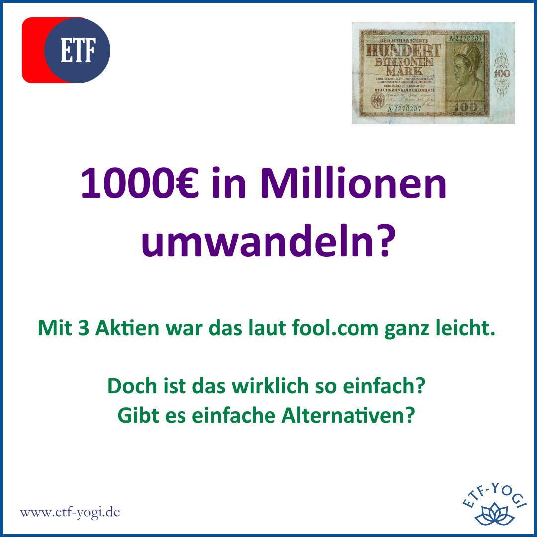 Wie sich 1000€ in Millionen umwandeln lassen