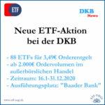 DKB: ETF-Aktion für Amundi, Comstage und Lyxor ETFs