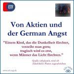 German Angst und Aktien - Furcht vor den falschen Sachen?