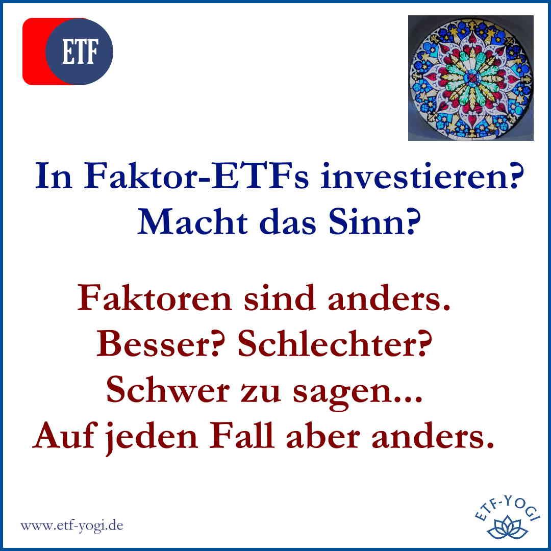 Faktor-ETFs sind anders: MSCI World ETF oder Faktoren?