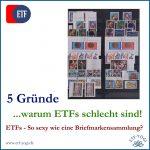Warum ETFs schlecht sind? - 5 gute Gründe
