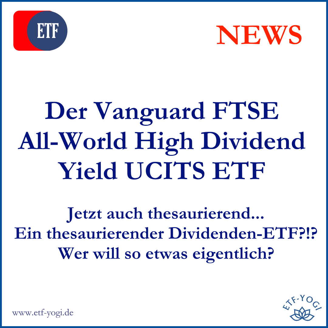 Neu: Vanguard FTSE All-World High Dividend Yield UCITS ETF (acc)