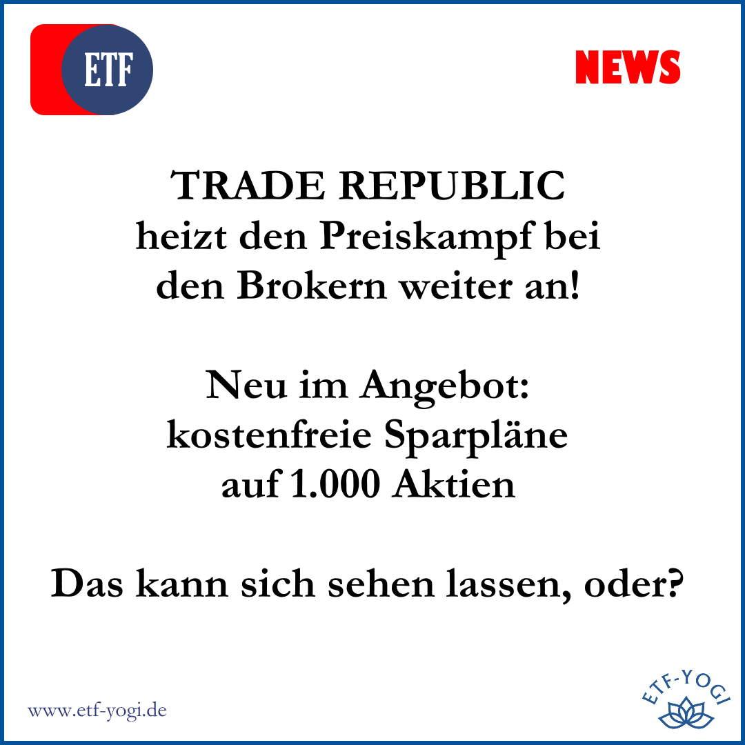 Kostenfreie Aktiensparpläne bei der Trade Republic: 1000 Aktien kostenfrei besparen