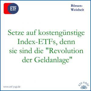 Setze auf kostengünstige Index-ETFs. Meine Börsentipps für 2021 und meine Prognosen für das Neue Jahr