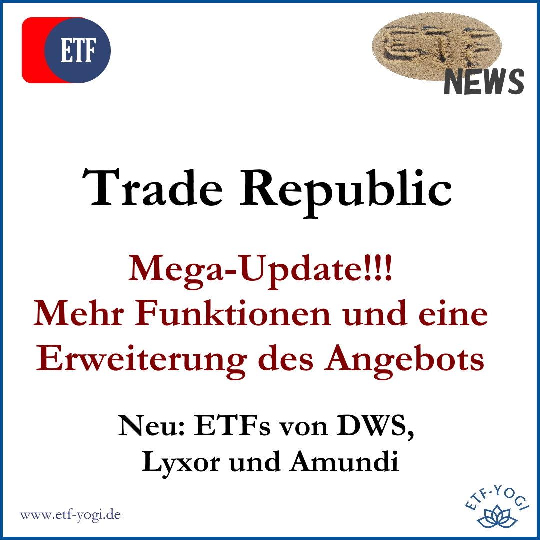 Trade Republic: Mega-Update mit DWS, Lyxor & Amundi
